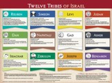 Twelve Tribes Laminated Wall Chart