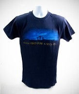 Jesus Died for a Reason T-Shirt, Navy, Large (42-44)  - Slightly Imperfect