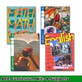 ACE Core Curriculum (4 Subjects), Single Student Complete  PACE Kit, Grade 1, 3rd Edition (with 4th Edition Science &  Social Studies)