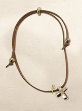 Eternity Cross Necklace, Gold