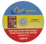 Exploring Creation with Zoology 1: Flying Creatures of  the 5th Day Lessons 1-6 Lapbook CD-Rom