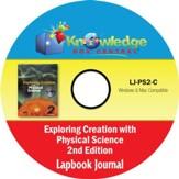 Apologia Exploring Creation With Physical Science 2nd Edition Lapbook Journal CD-Rom