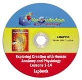 Exploring Creation w/Human Anatomy & Physiology Lapbook Package Lessons 1-14 CD