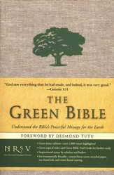 The NRSV Green Bible, cotton/linen cover