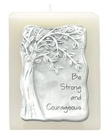 Be Strong and Courageous Candle