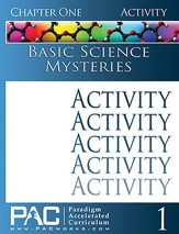 Basic Science Mysteries Activities Booklet, Chapter 1