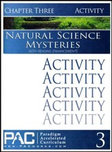 Natural Science Mysteries Activities Booklet, Chapter 3