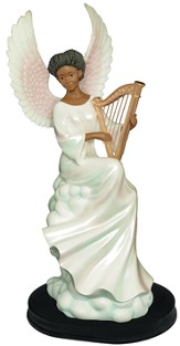 Heavenly Harp Angel Figurine