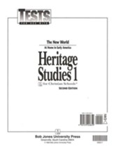 BJU Heritage Studies Grade 1, Tests