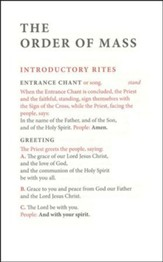 Order of Mass Hymnal Insert