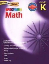 Spectrum Math, 2007 Edition, Grade K