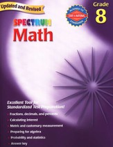 Spectrum Math, 2007 Edition, Grade 8