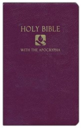 NRSV Gift & Award Bible with Apocrypha, Imitation leather, Royal purple - Slightly Imperfect