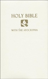 NRSV Gift & Award Bible with Apocrypha, Imitation leather, White