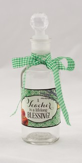 A Teacher Is A Lifelong Blessing Glass Bottle