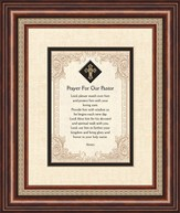 Prayer For Our Pastor, Framed Print