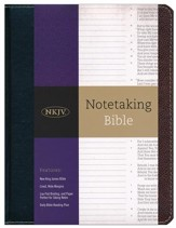 NKJV Notetaking Bible--bonded leather, black/brown