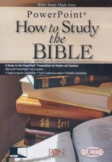 How to Study the Bible, Powerpoint CD-ROM
