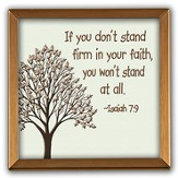 Stand Firm In Your Faith Copper Plaque