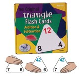 Original Triangle Flash Cards: Addition & Subtraction