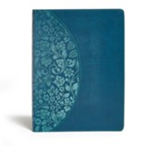KJV Study Bible Large Print Edition, Dark Teal LeatherTouch