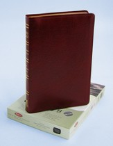 NKJV Ultra Thin Large Print Reference Bible, Bonded leather, Burgundy