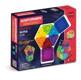 Magformers Rainbow Solids, Clear, 30Pieces