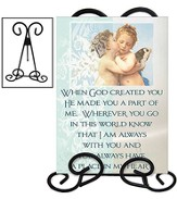 When God Created You Mirror Plaque with Stand