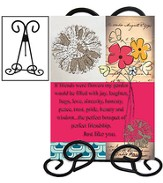 If Friends Were Flowers Mirror Plaque with Stand