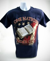 One Nation T-Shirt, Navy, Small (36-38)