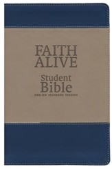 Faith Alive Bible Duo Tone Blue/Tan - Imperfectly Imprinted Bibles