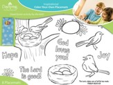 Color Your Own Placemats Spring