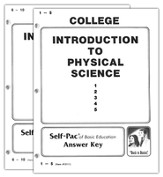 Advanced High School or College Elective: Introduction to Physical Science SCORE Keys 1-10