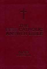 NABRE New Catholic Answer Bible Librosario Edition, Burgundy Imitation Leather