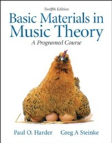Basic Materials in Music Theory: A Programmed  Approach, 12th edition
