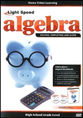 Light Speed Algebra: Solving, Simplifying and Slope 2-DVD Set