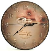 Personalized, Wall Clock, Two Shall Become One