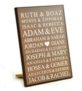 Personalized, Lithograph Plaque, Bible Names, Small Brown