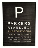 Personalized, Eye Chart Plaque, Large