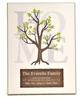 Personalized, Family Tree Plaque, Large