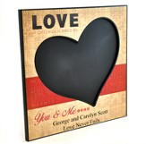 Personalized, Chalkboard, Love