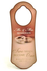 Personalized, Door Hanger, With Double Rings, Two  Become One