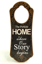 Personalized, Door Hanger, Home is Where Our Story   Begins