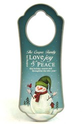 Personalized, Door Hanger, With Snowman