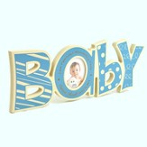 Personalized, Word Photo Frame, Baby, Blue