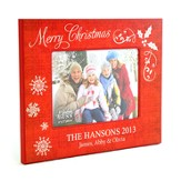 Personalized, Christmas Photo Frame, Large, Red