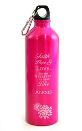 Personalized, Love Water Bottle, Pink