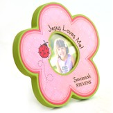 Personalized, Photo Frame, Flower, Jesus Loves Me