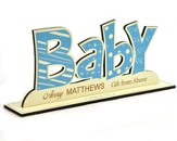 Personalized, Word Silhouette, Baby Boy
