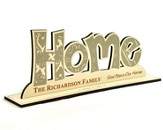 Personalized, Word Silhouette, Home